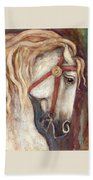 Carousel Horse Painting Beach Towel