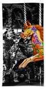 Carousel In Isolation Beach Towel