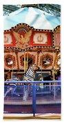 Carousel Inside The Mall Beach Towel