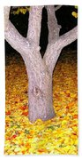 Carpet Of Leaves Beach Towel