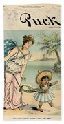 Cartoon: Cuba, 1902 Beach Towel