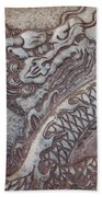 Carved Dragon Beach Towel