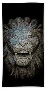 Carved Stone Lion's Head Beach Towel