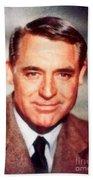 Cary Grant By John Springfield Beach Towel