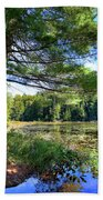 Cary Lake In August Beach Towel