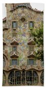 Casa Batllo In Barcelona, Spain Beach Towel