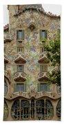 Casa Batllo In Barcelona, Spain Beach Sheet