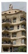 Casa Mila In Barcelona, Spain Beach Sheet