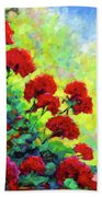 Cascade Of Geraniums Beach Towel