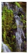 Cascades Of Burney Falls Beach Towel