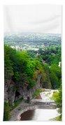 Cascadilla Gorge Cornell University Ithaca New York Panorama Beach Towel