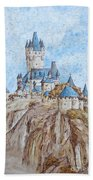 Castle On The River Rhine Beach Towel