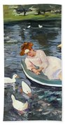 Cassatt: Summertime, 1894 Beach Towel