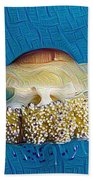 Cassiopeia Jellyfish Abstract Beach Towel