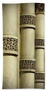 Cast Iron Columns Beach Towel