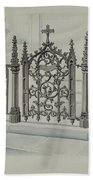 Cast Iron Gate And Fence Beach Towel