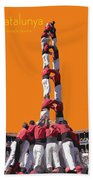 Castellers De Catalunya Beach Towel