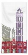 Castellon Skyline Poster Beach Towel