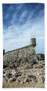 Castelo Do Queijo Old Fort Landmark In Porto Portugal Beach Towel