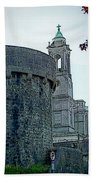 Castle And Church Athlone Ireland Beach Towel