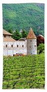 Castle And Vineyard In Italy Beach Towel