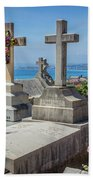Castle Hill Graves Overlooking Nice, France Beach Towel