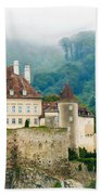 Castle In The Mist Beach Towel