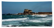 Castle Of Herod The Great Beach Towel