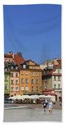 Castle Square And Sigismund's Column Warsaw Poland Beach Towel