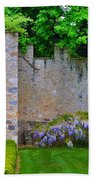 Castle Wall At The Highlands Beach Towel