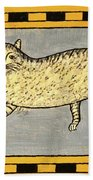 Cat And Butterfly Beach Towel