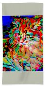 Cat By Fauvism Beach Towel