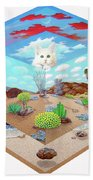 Cat In The Box Beach Towel