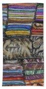 Cat Nap Beach Towel
