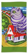 Cat On A Red Tin Roof Beach Towel