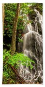 Cataract Falls In Great Smoky Mountains National Park Beach Towel