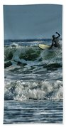 Catching A Wave Beach Towel