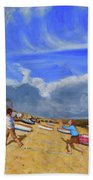 Catching The Ball, St Ives Beach Towel