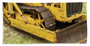 Caterpillar D2 Bulldozer 01 Beach Towel