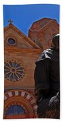 Cathedral Basilica In Santa Fe Beach Towel