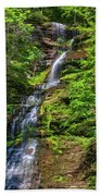 Cathedral Falls 2 - Paint Beach Towel