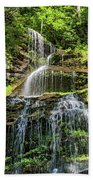 Cathedral Falls 4 - Paint Beach Towel
