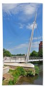 Cathedral Green Bridge At Derby Beach Towel