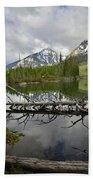 Cathedral Group Reflection On String Lake Beach Towel
