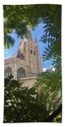 Cathedral In Brugge Beach Towel