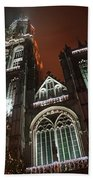Cathedral In The Mist Beach Towel