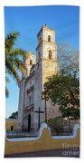 Cathedral In Valladolid Beach Towel