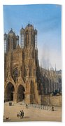 Cathedral Of Notre-dame At Reims Beach Towel
