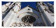 Cathedral Of St John The Babtist In Savannah Beach Towel