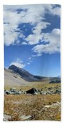 Cathedral Peak Over Waterton Valley Trail - Glacier National Park Beach Towel